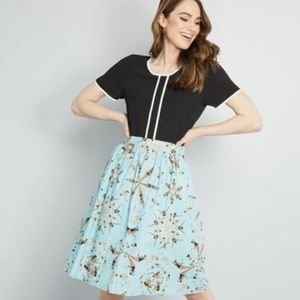 NWT ModCloth dupenny synchronized swimmer skirt